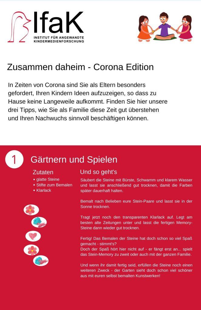 Corona Anleitung 1