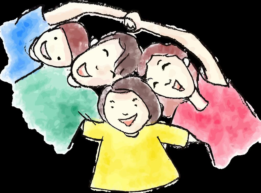 glückliche Familie (handgezeichnet)