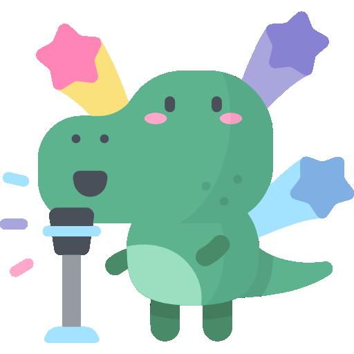 Singender Dinosaurier