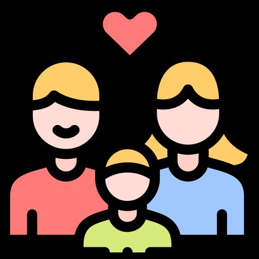 Mama, Papa und Kind (stilisiert)
