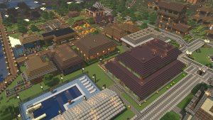 Ein Dorf aus dem Spiel Minecraft