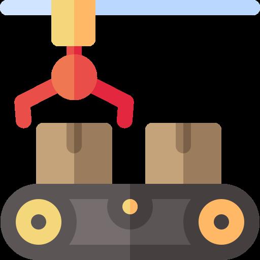 Anlage zur Mülltrennung (stilisiert)